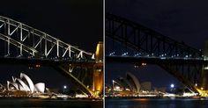 O Sydney Opera House e a ponte da Baía de Sydney participaram da 10ª edição da Hora do Planeja na Austrália.