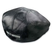 4788da187d4 nostalgic-trademark-leather-ivy-cap Harley Davidson Online Store