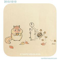 635 Oooh a chipmunk! Hedgehog Art, Hedgehog Drawing, Cute Hedgehog, Hedgehog Illustration, Cute Illustration, Cute Drawings, Animal Drawings, K Wallpaper, Cute Doodles