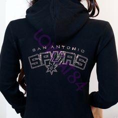 San Antonio Spurs Jersey Bling Rhinestones Zip Up by LOVCAT84, $39.99