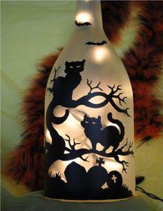 black cat bottle