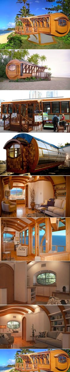 Net-zero Arc House shows how arches make tiny spaces feel bigger The Arc House by Green Builder Media ~ Tiny Spaces, Small Space, Tiny House Living, Tiny House Plans, Tiny House Design, Green Building, Little Houses, Future House, Arches