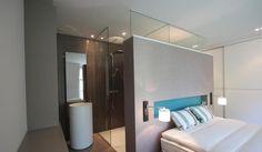 See original image Small Room Interior, Modern Home Interior Design, Bathroom Interior, Indoor Outdoor Bathroom, Open Bathroom, Hotel Concept, Lofts, Lounge Design, Hotel Suites