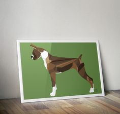 Geometric Boxer Poster   by Frederic Aladenise