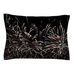 East Urban Home Fireworks by Catherine McDonald Pillow Sham Size: