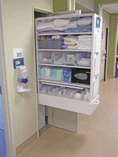 CoreSTOR Sterile Supply Cabinet outside Patient Room