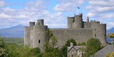 Harlech Castle in Gwynedd