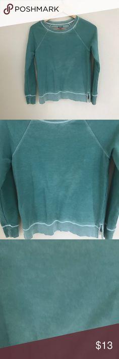 Aerie Sweatshirt, medium, teal green Aerie sweatshirt, medium, teal green, mild pilling of fabric. Measurements are shown in images. aerie Tops Sweatshirts & Hoodies