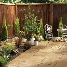 Restoration: A natural sandstone with a chiselled profile and a craggy face to create the look and feel of a weathred patio instantly.