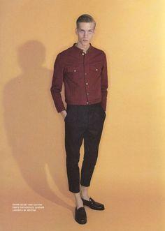 Paul Boche Models Multifaceted Styles for LOfficiel Hommes Paris