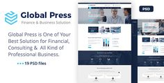 Global Press - Finance Company PSD Template by theme-jungle PSD FEATURES:19 PSDs Included Easy to find & customizationBootstrap Grid Free icon Free fonts Easy to Customize CreditsFont used: