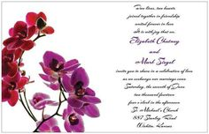 50 Red Purple Orchids Wedding Invitations RSVP Reception Cards Free Seals | eBay