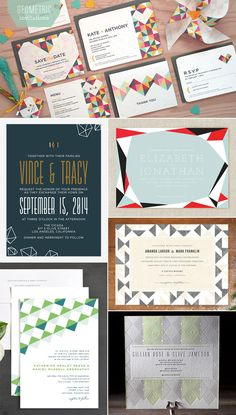 Geometric Wedding Invitations