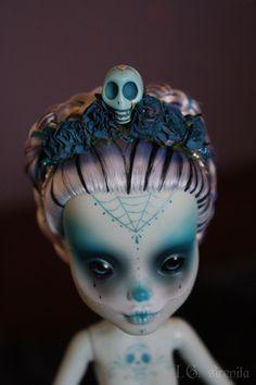 Untitled -- custom OOAK Monster High doll.
