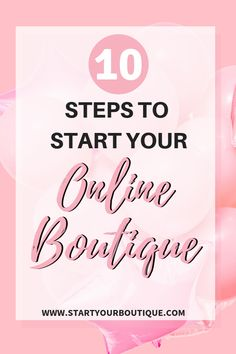 How to Start an Online Boutique - How To Start An Online Boutique? - How to start an online boutique free mini course. Starting an online boutique checklist with 10 essential steps on how to start a clothing boutique and find wholesale boutique clothes. Starting A Business, Business Planning, Business Tips, Online Business, Business Marketing, Business Quotes, Business Opportunities, Starting A Clothing Business, Growing Business