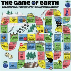 As Earth Day turns 42 this year, here's a look back at four decades of U.S. environmental history -- presented in board-game format.
