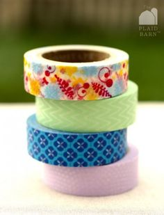 cute washi tape on sale today at the plaid barn!