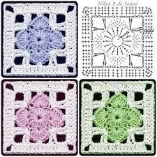 Transcendent Crochet a Solid Granny Square Ideas. Inconceivable Crochet a Solid Granny Square Ideas. Motifs Granny Square, Granny Square Crochet Pattern, Crochet Diagram, Crochet Chart, Crochet Squares, Crochet Granny, Granny Squares, Crochet Motif Patterns, Crochet Blocks