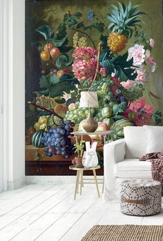 x Still life Vintage Flowers Mural - Oil Painting Wall Decals - Large Wall Art - Self Adhesive Polyester and Non woven wallpapers Vintage Flower Prints, Vintage Flowers, Print Wallpaper, Pattern Wallpaper, Chinese Wallpaper, Flower Mural, Chinoiserie Wallpaper, Large Wall Art, Vintage Walls