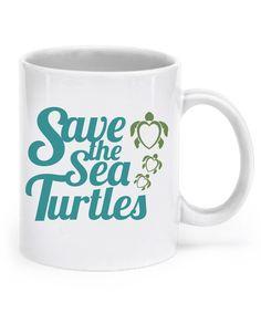 Save The Sea Turtles Mugs stsmugs