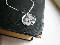 Rustic Tree of Life Necklace in Sterling Silver. $26.00, via Etsy.