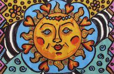 """Künstler Teppich Sun """"Cambridge Park"""" ca 185x285cm von ¡Colorista Moderna! €2.250,00 auf DaWanda.com   Das schöne Motiv ist ein Design der Künstlerin Dawn Collins."""