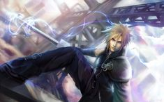 Cloud Strife:1st Class Soldier by Negshin.deviantart.com on @deviantART