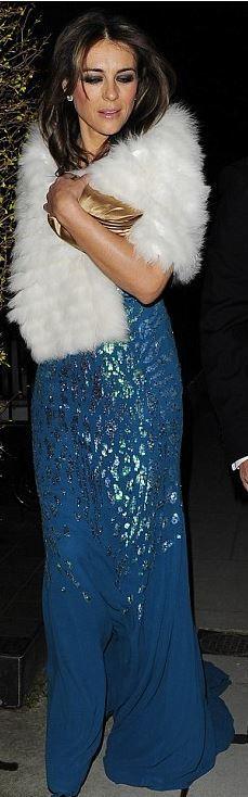10d7e82bb9a4 Elizabeth Hurley in Roberto Cavalli Blue Gown Dress