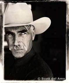 sam elliott. My gravely-voiced-don't-eat-the-big-white-mint-crush...(please tell me you have seen Roadhouse).