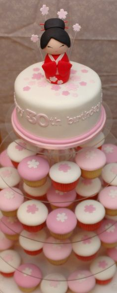 @KatieSheaDesign ♡♡  the cupcake gallery - kids' birthday - japanese cherry blossom, I want this in red