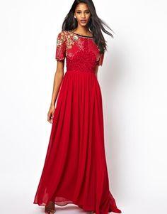 Image 1 of Virgos Lounge Raina Maxi Dress with Embellished Shoulder