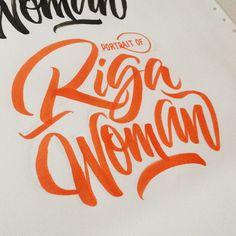 Riga Woman Logo by Joluvian, via Behance