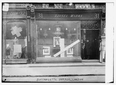 Damage by Suffragettes, 31 Bond Street - London, United Kingdom, 1912 Women In History, British History, Positive Images, Suffragettes, Bond Street, Historical Images, Old London, Library Of Congress, Feminism
