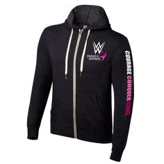 #WWE #CourageConquerCure Black Hoodie