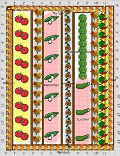http://www.almanac.com/content/vegetable-garden-planner  http://www.almanac.com/content/information-about-plants-vegetables-herbs-fruit-guides