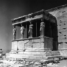 size: Photographic Print: Portico of the Caryatids or Korai, Acropolis, Athens by Pietro Ronchetti : Historical Architecture, Ancient Architecture, Art And Architecture, Greece Photography, Greek Art, Acropolis, Athens, Find Art, Mount Rushmore