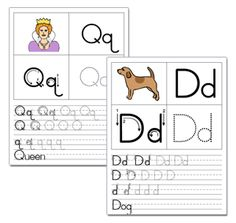 Letter Tracing Printables  Learning To Write Flashcard And