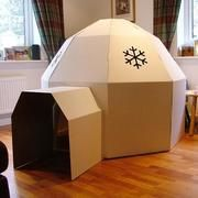 Cardboard Igloo the craziest and most fun design yet. Perfect for our British winter weather http://www.happywitch.co.uk/playtime/kids-paperpod-cardboard-igloo-playhouse/