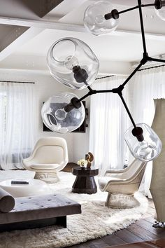 Light luminaire éclairage Home Decor. A decor project by Julie hillman. Just love the modern suspension lighting. modern interior design ideas, elle decor furniture
