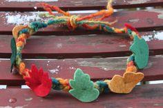 Blätterkranz, Blätterkrone für Kobolde und Wichtel von Jalda auf www.Dawanda.com/Shop/Jalda-Filz #DIY # Kinder # Spielen #Fasching #Verkleiden