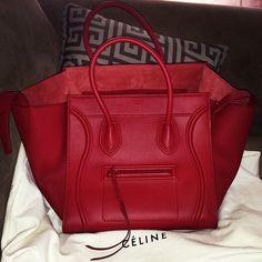 Red Celine bag<3