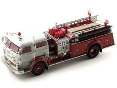This 1960 Mack C Fire Truck Diecast Scale Model is Produced By Signature Scale: 1/32 Color: Red / White Mdel Number: 32372 Another great diecast Scale Model from Signature
