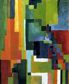 August Macke - Formas coloreado  II