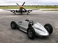 Mercedes Benz W165 (1935) The car is nice but so is the P-51 that helped vanquish the nazis!