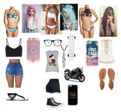 """Beach day"" by ccrodriguez17 ❤ liked on Polyvore featuring Rip Curl, Bra Society, Topshop, Anna Kosturova, Billabong, Sole Society, Live the Process, Casetify, Converse and Bling Jewelry"