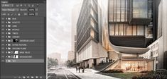 The Art of Rendering: How to Manage the Many Layers of Photoshop - Architizer Journal Cool Photoshop, Photoshop Actions, Rendering Techniques, 3d Architectural Visualization, Facade Architecture, Double Exposure, School Design, Layers, Management