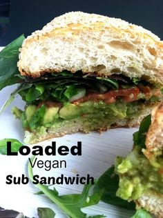 this Loaded Vegan Sub! super filling and perfect for lunch! I eat some form of this like at least once a week! / TwoRaspberries.com