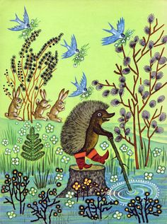 "Юрий Васнецов «Радуга-дуга»   ""Картинки и разговоры"" (""Rainbow"") 1969. Illustrator;- Yuri Vasnetsov"