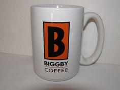 Biggby Coffee Cup Ceramic Collectible Large White 14 oz Mug Orange w Black B CoffeeMugCup Biggby Coffee, Modern Mugs, Black B, Large White, Starbucks, Coffee Cups, Ceramics, Orange, Friends