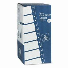 AVERY-DENNISON Dot Matrix Printer 1 Across Shipping Labels, 3000/Box